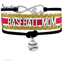 Load image into Gallery viewer, Infinity Love Baseball Mom Bracelets Coaches Heart Glove Charm Lover Womens Fashion B5203