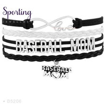 Load image into Gallery viewer, Infinity Love Baseball Mom Bracelets Coaches Heart Glove Charm Lover Womens Fashion B5206