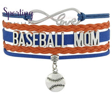 Load image into Gallery viewer, Infinity Love Baseball Mom Bracelets Coaches Heart Glove Charm Lover Womens Fashion
