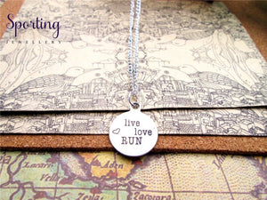 Live Love Run Charms Pendant Necklace