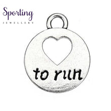 Load image into Gallery viewer, Love To Run Marathon Running Girl Zinc Alloy Heart