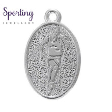 Load image into Gallery viewer, Love To Run Marathon Running Girl Zinc Alloy Oval