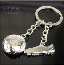 Load image into Gallery viewer, Metal Keychain New Key Chain - Fashion Hot High Quality Soccer Shoes And Football Car Ring Gift Bag