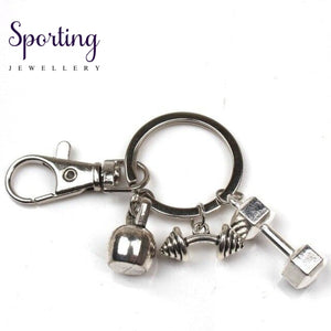 New Hot Fashion Accessories Keychain Mini Dumbbell Discus Barbell Fitness Charm Designer Gift Coach
