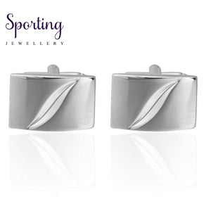 Quality French Shirt Cufflinks For Mens Wholesale Copper Material Silver