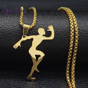 Running Stainless Steel Necklace Gold-Color / Silver