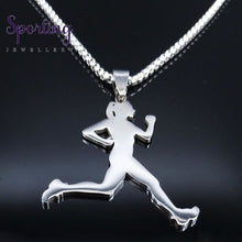 Load image into Gallery viewer, Running Stainless Steel Necklace Sr 60 Box