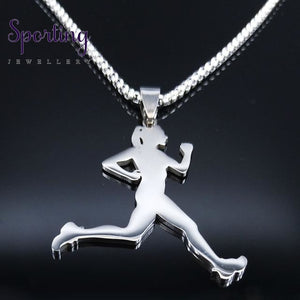 Running Stainless Steel Necklace Sr 60 Box