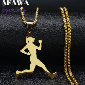 Running Stainless Steel Necklace
