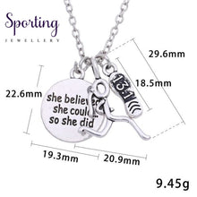 Load image into Gallery viewer, Silver Runner Necklaces Style 5