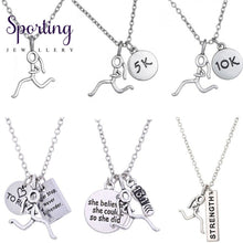 Load image into Gallery viewer, Silver Runner Necklaces