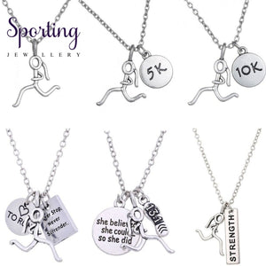 Silver Runner Necklaces