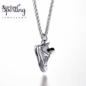 Sneaker Pendant Necklace Stainless Steel/gold/black Sports Shoe Jewelry Running Gift For Lover