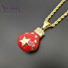 Load image into Gallery viewer, Sport Fitness Jewelry Stainless Steel Boxing Patriotic Flags Gloves Pendant Necklace Chic Men Hiphop