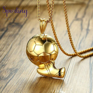 Stainless Steel Gold Football Soccer