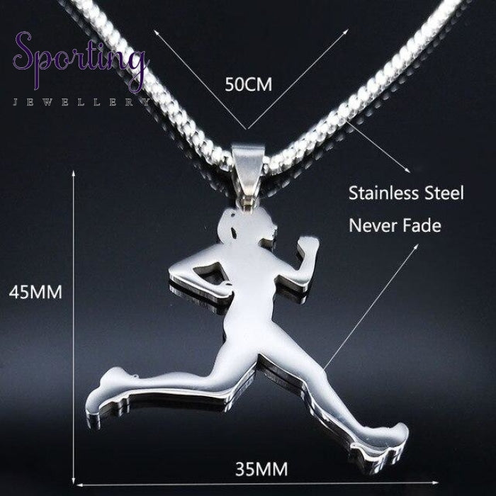 Stainless Steel Running Necklace Sr 60Cm Box