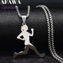 Load image into Gallery viewer, Stainless Steel Running Necklace