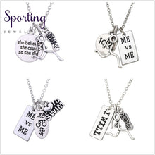 Load image into Gallery viewer, Teamer Sport Jewelry Running Girl Pendant Necklace Self-Motivation Exercise Gifts For Men Women