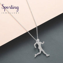 Load image into Gallery viewer, Todorova Runner Necklace Men Body Figure Sports Athlete Walking Jogging Running Women Silhouette