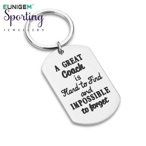 Trendy Silver Keychain Thank You Gifts For Men Woman Boys Girls Football Basketball Baseball