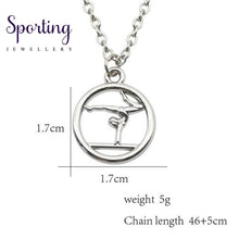 Load image into Gallery viewer, Trendy Sport Necklaces Pendants Swim Bike Run Gym Yoga Dance Girl Necklace Muscular Men Racket