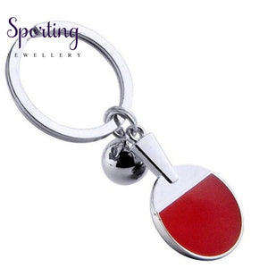 Wholesale Promotion Sport Ping Pong Table Tennis Ball Badminton Bowling Key Ring