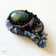 Load image into Gallery viewer, Tanzanite and Labradorite brooch. - Pirouette Jewellery Designs