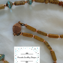 Load image into Gallery viewer, Petrified planet necklace - Pirouette Jewellery Designs