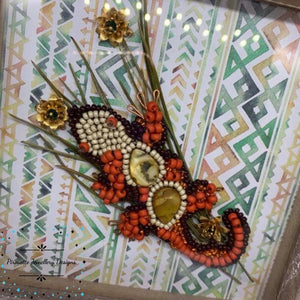 Hand stitched Lizard Box frame - Pirouette Jewellery Designs