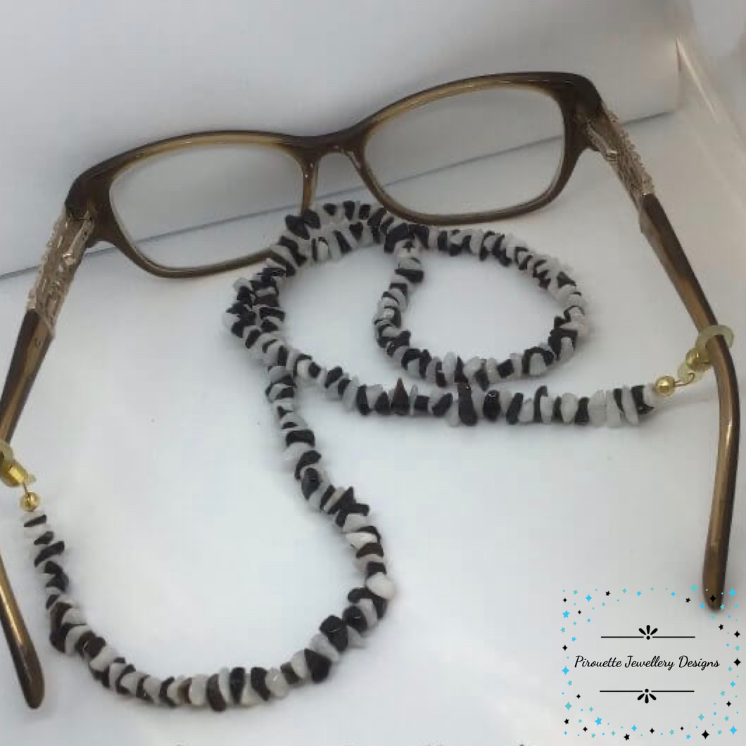 Genuine Onyx & Agate Spectacle Chain - Pirouette Jewellery Designs