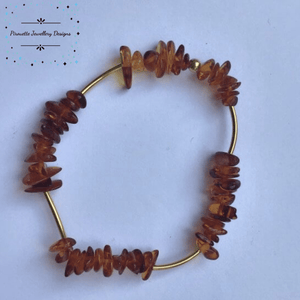 Stretch Baltic Amber Bracelet - Pirouette Jewellery Designs