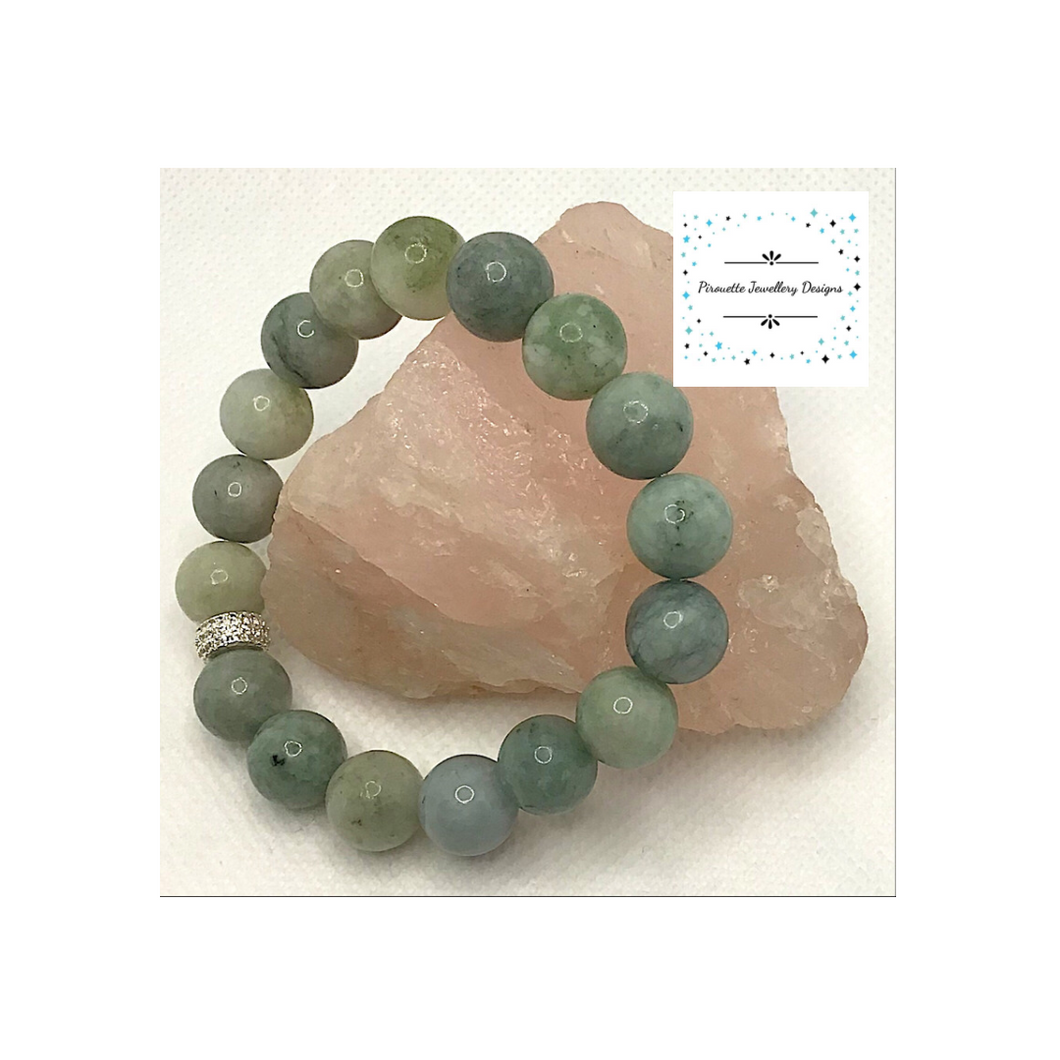 Jadeite Stretch bracelet - Pirouette Jewellery Designs