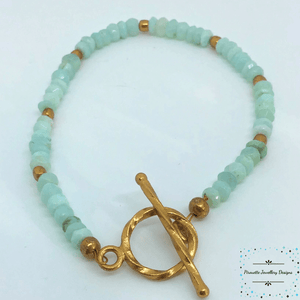 Genuine Sky Blue Opal Bracelet - Pirouette Jewellery Designs