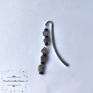 Labradorite and Purple Magnesite Bookmark - Pirouette Jewellery Designs