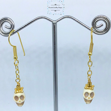 Load image into Gallery viewer, Acrylic Skull and chain earrings - Pirouette Jewellery Designs