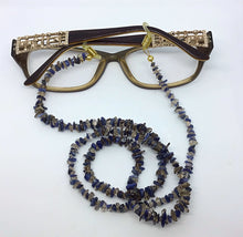 Load image into Gallery viewer, Genuine Smokey Quartz and Sodalite Spectacle Chain - Pirouette Jewellery Designs