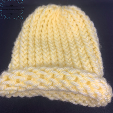 Load image into Gallery viewer, Pale Yellow Knitted Baby Hat - Pirouette Jewellery Designs