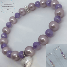 Load image into Gallery viewer, Shell Pearl bracelet and earrings set - Pirouette Jewellery Designs
