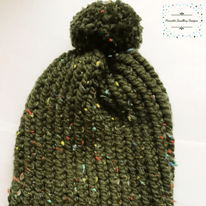 Green Knitted Child Hat - Pirouette Jewellery Designs