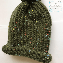 Load image into Gallery viewer, Green Knitted Child Hat - Pirouette Jewellery Designs