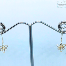 Load image into Gallery viewer, Sterling Silver Flower Earrings - Pirouette Jewellery Designs