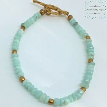 Load image into Gallery viewer, Genuine Sky Blue Opal Bracelet - Pirouette Jewellery Designs
