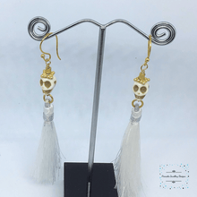 Load image into Gallery viewer, Skull and Tassel earrings - Pirouette Jewellery Designs