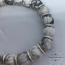 Load image into Gallery viewer, White Howlite Stretch Bracelet - Pirouette Jewellery Designs