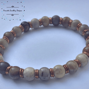 Petrified Wood Stretch Bracelet - Pirouette Jewellery Designs