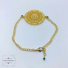 Load image into Gallery viewer, Gold plated mandala Style Bracelet - Pirouette Jewellery Designs