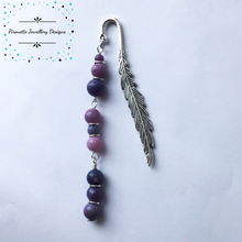 Load image into Gallery viewer, Genuine Purple Opal bookmark - Pirouette Jewellery Designs