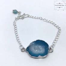 Load image into Gallery viewer, Blue Quartz Slice Bracelet - Pirouette Jewellery Designs