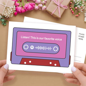 Custom spotify code Music Cards Magnetic Tape Style