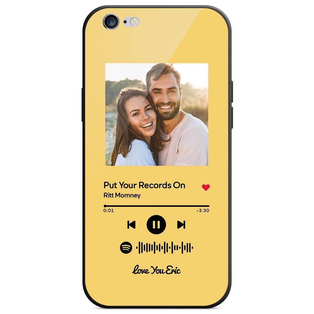 Custom Spotify Code Music Plaque iphone Case With Text Yellow